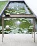 Linea Textured Graphite Sofa Table