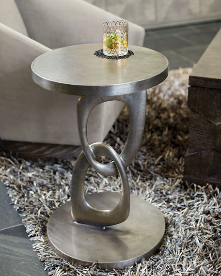 Linea Double Ring Chair-Side Table