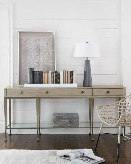 Bernhardt Santa Barbara Metal Base Console Table