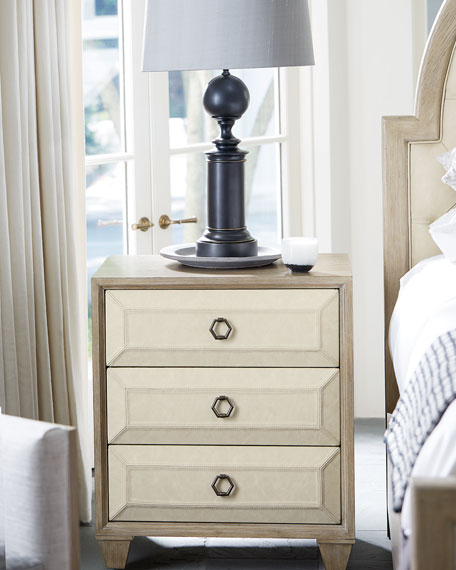 Bernhardt Santa Barbara Fabric-Trim Small Night Stand