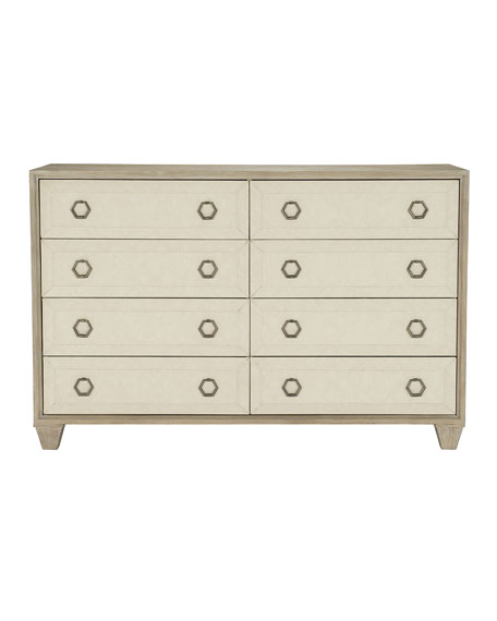 Santa Barbara Fabric Trim 8-Drawer Dresser
