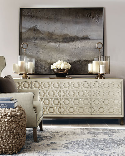 Santa Barbara Geometric Design Entertainment Console