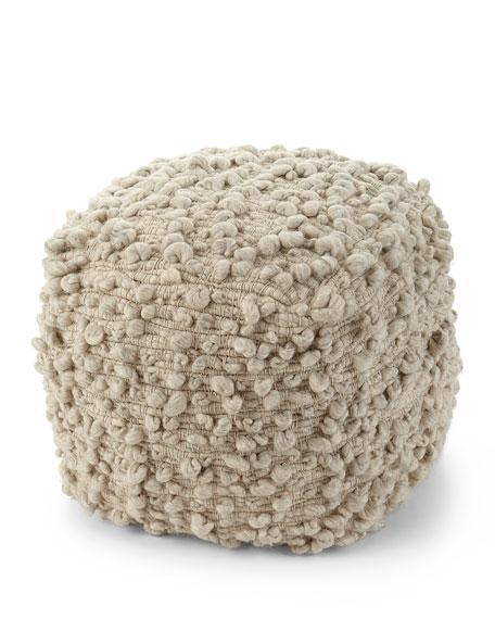 Kai Hand-Loomed Wool Ottoman