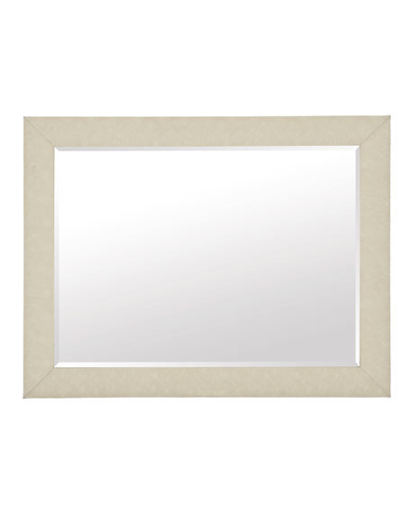 Santa Barbara Fabric Wrapped Rectangle Mirror