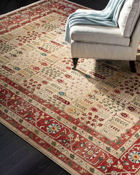 Marqaux Red Power-Loomed Runner, 2' x 8'