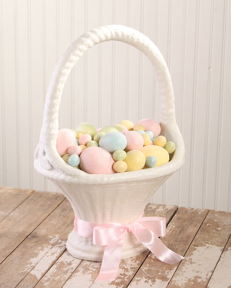 Bethany Lowe Large Paper Mache Easter Basket