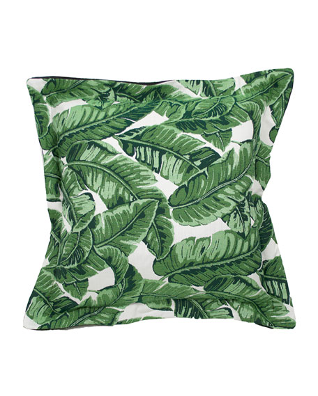 "Tropics Knife Edge Pillow, 22""Sq."