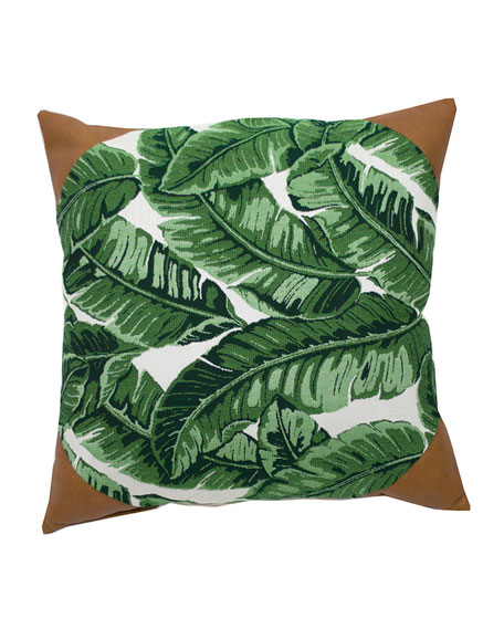 "Tropics Corner Caps Pillow, 20""Sq."