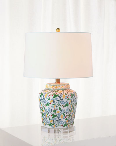 Crewel Summer Table Lamp