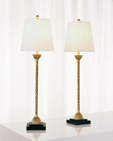 Delfern Gold Buffet Lamps, Set of 2