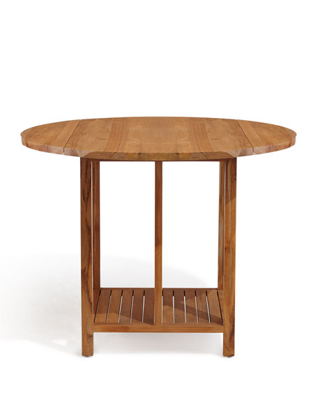 Teak Drop Leaf Game Table with Chairs