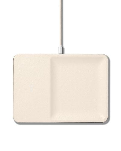 CATCH:3 Single Device Wireless Charging Station w/ Accessory Organizer  Bone