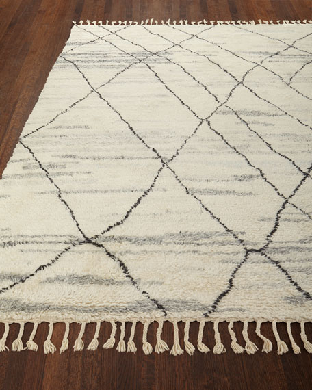 """Kirsten Hand-Knotted Shag Area Rug, 5'6"""" x 8'"""