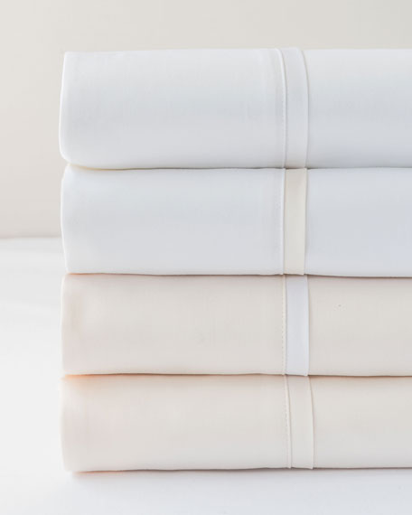 Estate King Sheet Set, White/Ivory