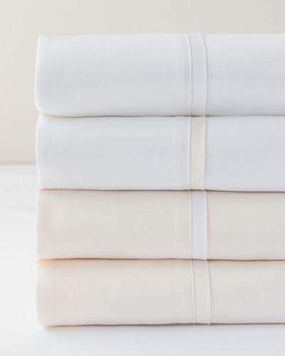 Estate King Sheet Set  Ivory/White