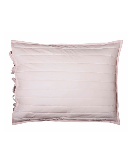 Reversible Quilted Standard Sham, Pink/White
