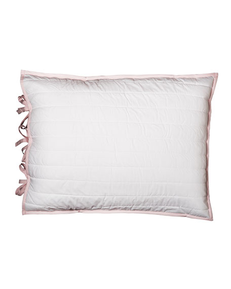 Reversible Quilted King Sham, Pink/White