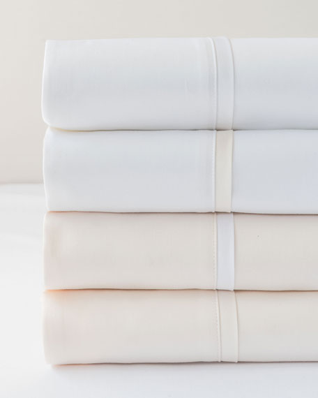 Estate King Sheet Set, White/White