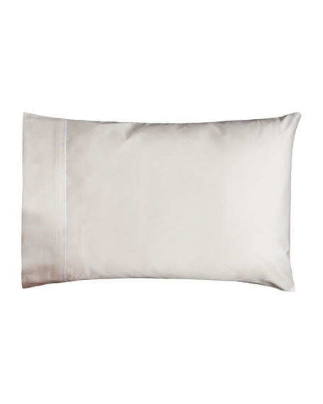 Estate Pair of Standard Pillowcases, Ivory/White