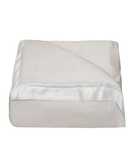 Devere Full/Queen Duvet Cover, Ivory/White