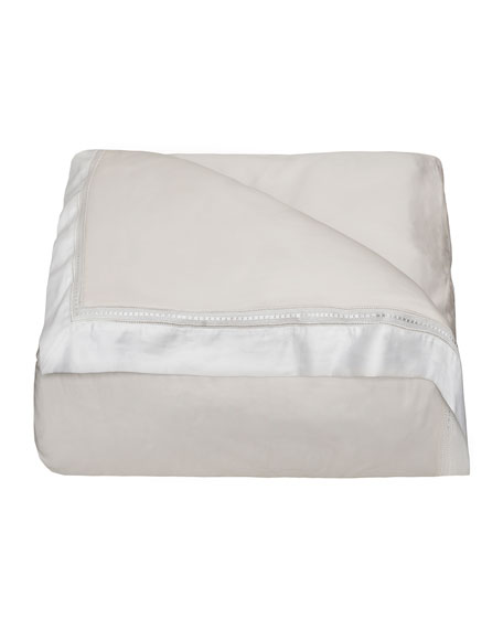 Devere King Duvet Cover, Ivory/White