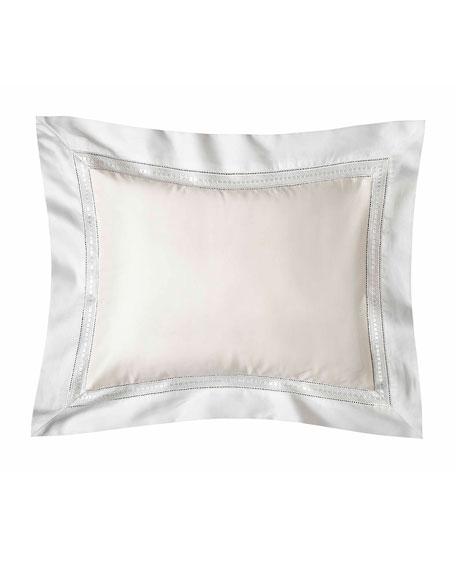 Devere Boudoir Sham, Ivory/White