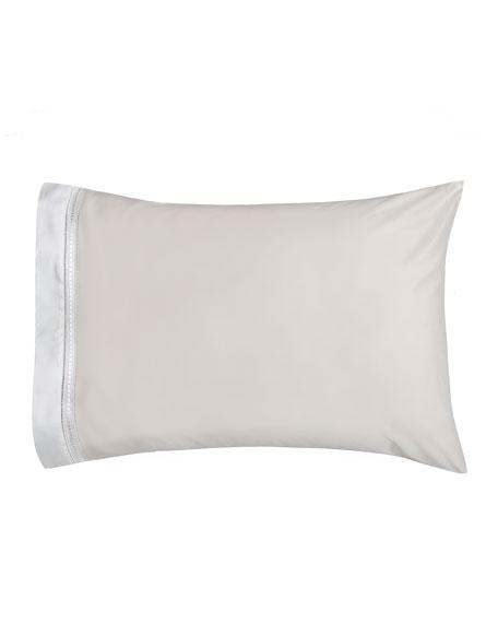 Devere Pair of Standard Pillowcases, Ivory/White