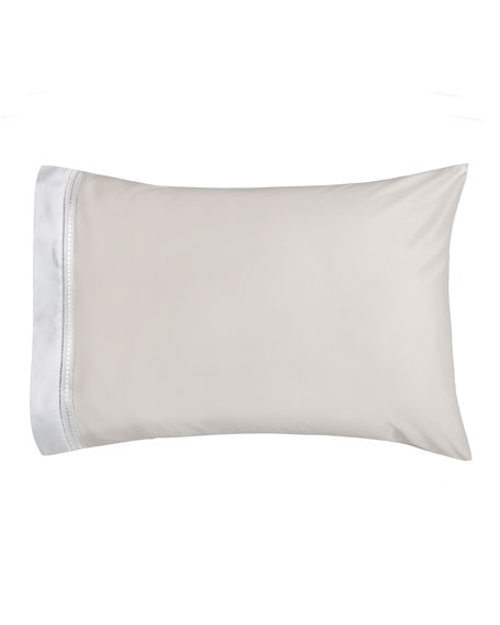Devere Pair of King Pillowcases, Ivory/White