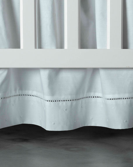 Bovi Fine Linens Amparo Crib Dust Skirt, White