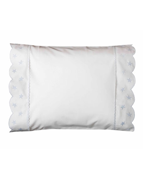 Twinkle Crib Pillowcase, White/Blue