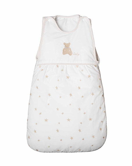 Twinkle Quilted Sleeping Bag, White/Taupe