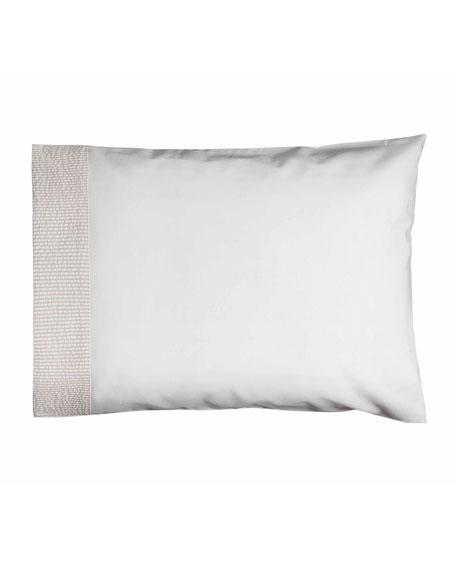 Baby Seersucker Crib Pillowcase, White/Taupe