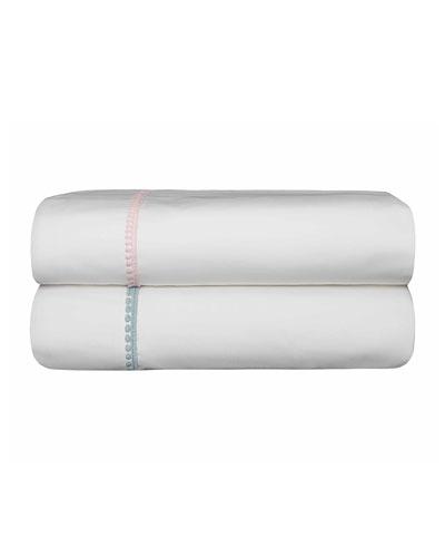 Bitsy Dots Twin Sheet Set  White/Aqua