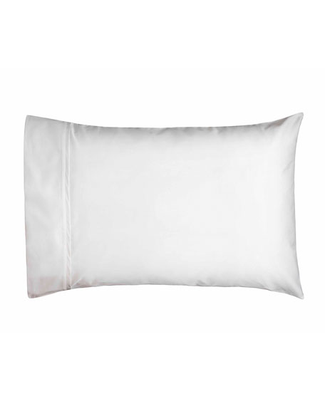 Estate Pair of Standard Pillowcases, White/White