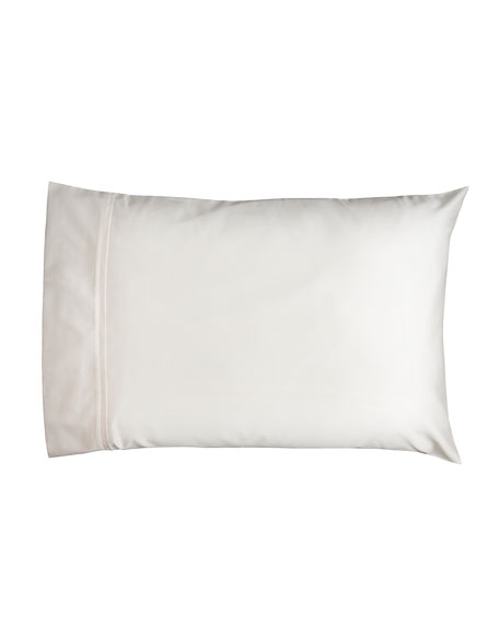 Estate Pair of King Pillowcases, Ivory/Ivory