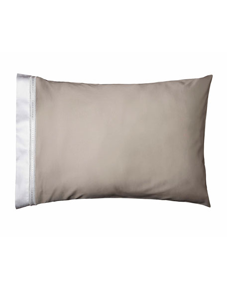Devere Pair of Standard Pillowcases, Taupe/White