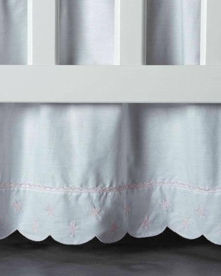 Twinkle Crib Dust Skirt, White/Pink