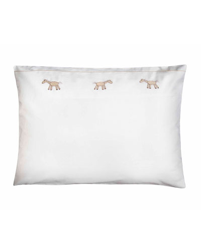 Peter Crib Pillowcase  White/Taupe