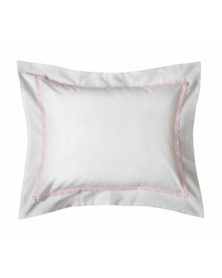 Bitsy Dots Boudoir Sham, White/Light Pink