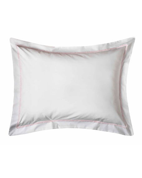 Bitsy Dots Standard Sham, White/Light Pink