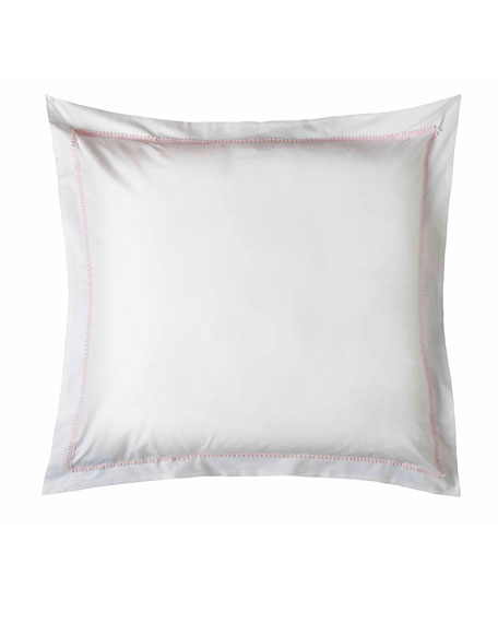 Bitsy Dots European Sham, White/Light Pink
