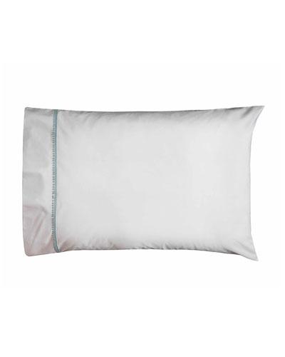 Bitsy Dots Pair of Standard Pillowcases  White/Aqua
