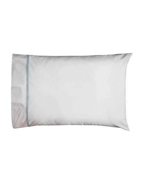 Bitsy Dots Pair of Standard Pillowcases, White/Aqua