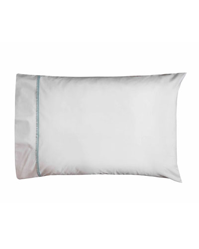 Bitsy Dots Pair of King Pillowcases  White/Aqua