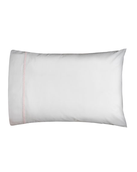 Bitsy Dots Pair of Standard Pillowcases, White/Light Pink