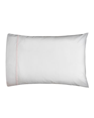 Bitsy Dots Pair of King Pillowcases  White/Light Pink