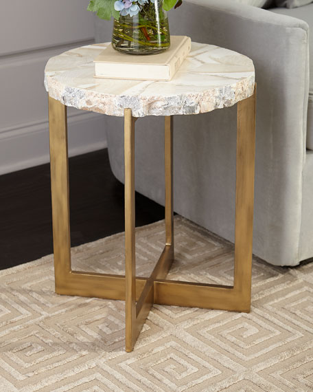 Palecek Jasmine Fossilized Clam Side Table