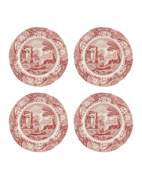 Cranberry Italian Dinner Plates, Set of 4