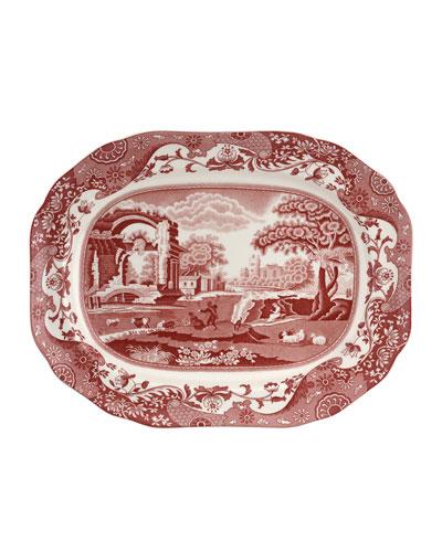 Cranberry Italian Medium Oval Platter