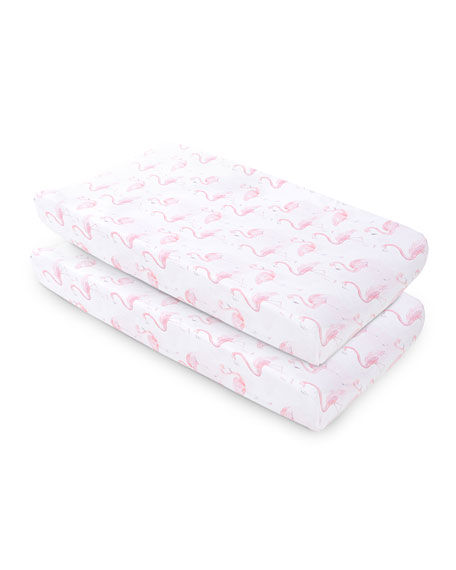 Flamingo Changing Pad Cover, 2 Pack
